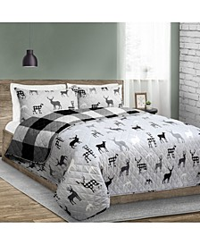 Inc Quilt 3 Piece Set Full/Queen Deer