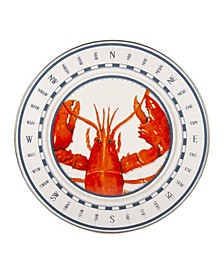 Lobster Enamelware Chargers, Set of 2
