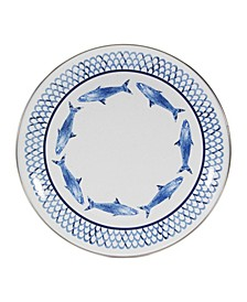 Fish Camp Enamelware Dinner Plates, Set of 4