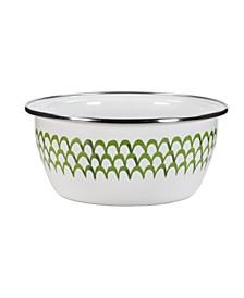 Scallop Enamelware Salad Bowls, Set of 4