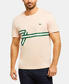 Men's Regular Fit Short Sleeve Cotton T-Shirt with Heritage Ribbon Graphic