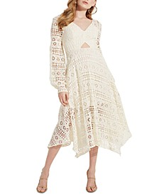Marcella Crocheted Midi Dress