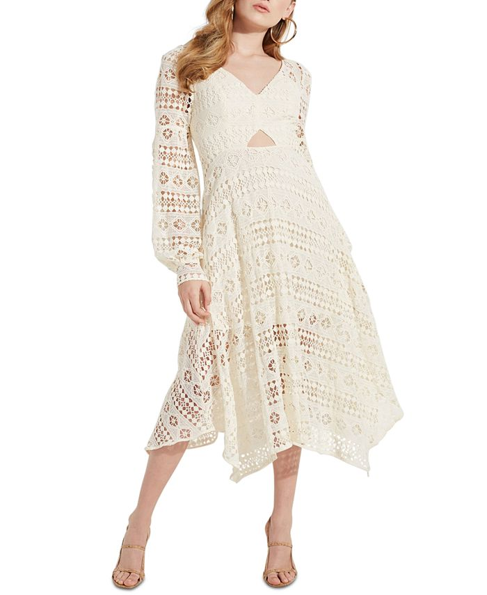 GUESS - Marcella Crocheted Handkerchief-Hem Dress