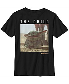 Star Wars The Mandalorian Big Boys The Child Long Ears Photo Short Sleeve T-shirt