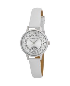 Women's Spray Crystal Dial White Polyurethane Strap Watch 32mm