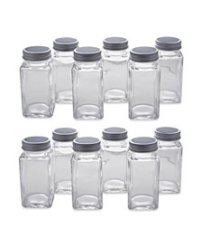 12 Pieces Spice Jar Set with Chalkboard Labels
