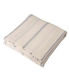 Glitzhome Full Queen Cotton Stripe Quilt