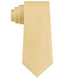 Men's Textured Glencheck Silk Tie