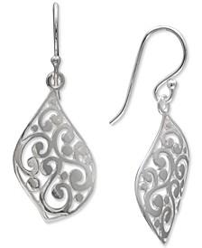Openwork Filigree Leaf Drop Earrings in Sterling Silver, Created for Macy's