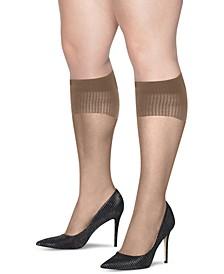Plus Size 2-Pk. Curves Sheer Knee Socks