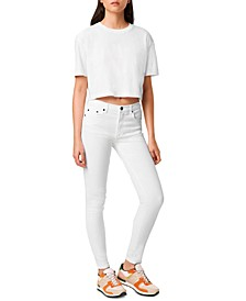 Sahanna Cotton Cropped T-Shirt