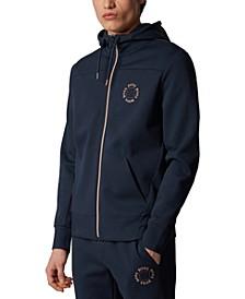 BOSS Men's Saggy Circle Navy Sweatshirt