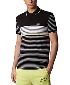 BOSS Men's Paddy 7 Black Polo Shirt