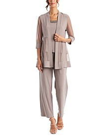 Embellished Layered-Look Pantsuit