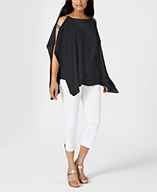 Layered Embellished Poncho Top, Created for Macy's