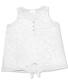 Henley Tie-Front Tank Top, Created for Macy's