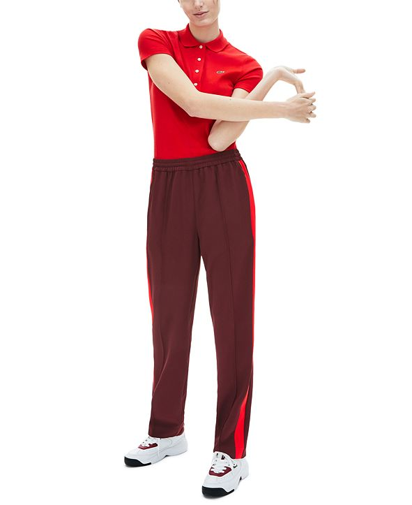 Lacoste Contrast-Stripe Pull-On Pants