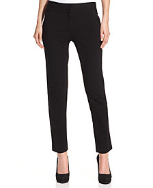 Vince Camuto Straight-Leg Ponte Ankle Pants