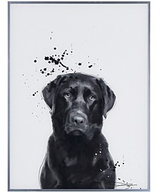 "Labrador Retriever Pet Paintings on Reverse Printed Glass Encased with a Gunmetal Anodized Frame Wall Art, 24"" x 18"" x 1"""