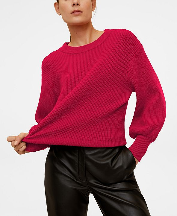 MANGO Puffed Sleeves Sweater