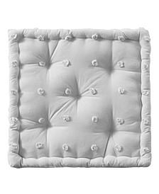 "Brooklyn 20"" x 20"" x 5"" Cotton Jacquard Square Floor Pillow Cushion"