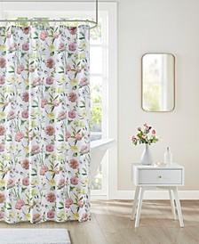 "Ashley Floral Print Shower Curtain, 72"" W x 72"" L"