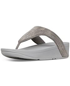 Women's Lottie Shimmer mesh Toe-Thongs Sandal