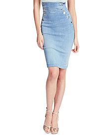 GUESS Gwen Longuette High-Waist Denim Skirt