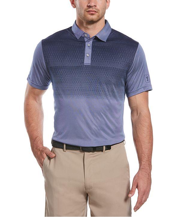 PGA TOUR Men's Gradient-Stripe Golf Polo