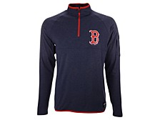 Boston Red Sox Men's Brushback Quarter-Zip Pullover