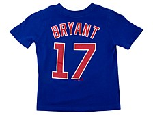 Chicago Cubs Kids Kris Bryant Name and Number Player T-Shirt