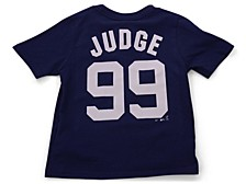 New York Yankees Kids Aaron Judge Name and Number Player T-Shirt