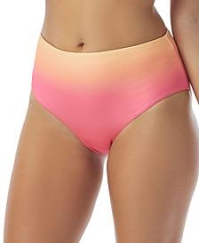 Ombre High-Waist Bikini Bottoms
