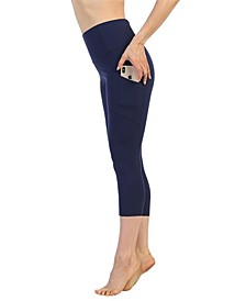 High Waist 3/4 Length Pocket Compression Leggings