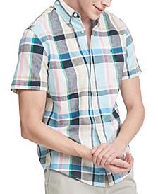 Men's Custom-Fit Death Valley Plaid Short Sleeve Shirt