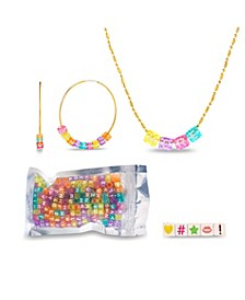 Interchangle Dice Hoop Earring and Chain Necklace Set