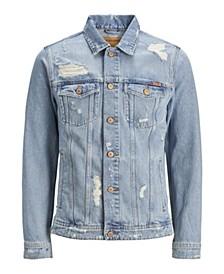 Men'S Distressed Denim Trucker Jacket