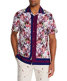 Men's Slim-Fit Performance Stretch Honolulu Short Sleeve Camp Shirt