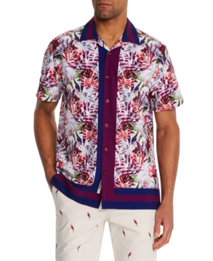 Men's Slim-Fit Performance Stretch Honolulu Short Sleeve Camp Shirt