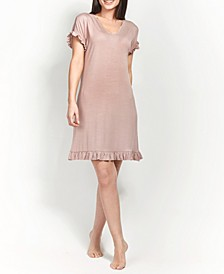 Ultra Soft Ruffle Sleepshirt Nightgown, Online Only