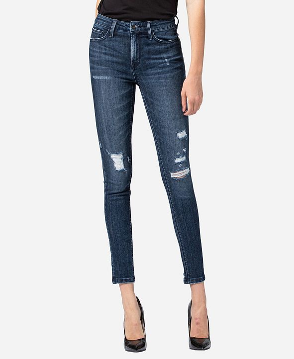 VERVET Mid Rise Distressed Skinny Ankle Jeans
