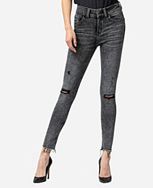 VERVET High Rise Acid Wash Skinny Ankle Jeans