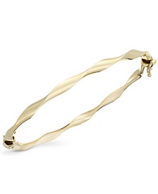 10k Gold Bracelet, Twist Bangle