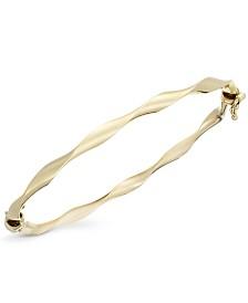 10k Gold Bracelet, Twist Bangle