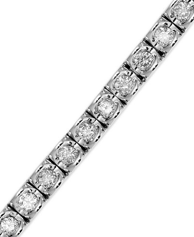 Diamond Bracelet in (3-1/3 ct. t.w.) 14k White Gold