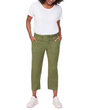 Nydj Women's Plus Size Stretch Linen Utility Pants In Olivine