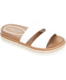 Women's Laney Jute-Trim Slide Sandals