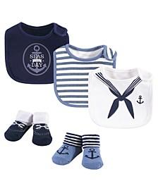Baby Boys Baby Bib and Sock Set