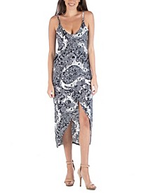 Cami Top Midi Paisley Wrap Dress