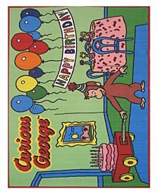"""Curious George Birthday 19"""" x 29"""" Area Rug"""